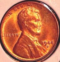 1944 S LINCOLN CENT..LUSTER TONE BU RB..SALE 50OFF  REDUCED 12/4  DD