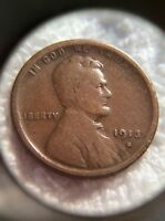 1913-S LINCOLN CENT - VG. INV3621