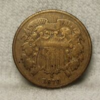 U.S.COINS1870 TWO CENT