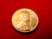 1944 LINCOLN CENT NICE BU RED TONED CENT FROM ORIGINAL ROLL  9
