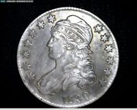 1830 SILVER CAPPED BUST HALF DOLLAR SMALL O 2706