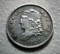 1832 CAPPED BUST HALF DIME EXTRA FINE DETAILS