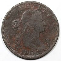 1797 S-122 R-5 EDS DRAPED BUST LARGE CENT COIN 1C