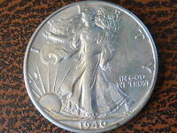 1940S AU WALKING LIBERTY HALF DOLLAR REF62