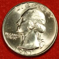 1961 D WASHINGTON QUARTER BU DOLLAR NICE SILVER COIN COLLECTOR GIFT WQ125