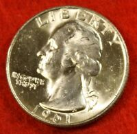 1961 D WASHINGTON QUARTER BU DOLLAR NICE SILVER COIN COLLECTOR GIFT WQ265