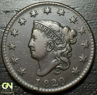1820/19 CORONET HEAD LARGE CENT N3 R2        MAKE US AN OFFER  O2851