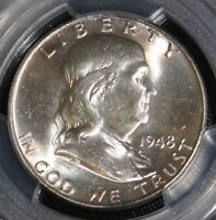 1948 PCGS MS 64 FULL BELL LINE FRANKLIN HALF DOLLAR