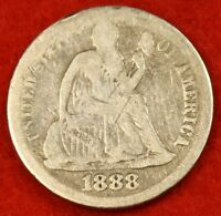 1888 P SEATED DIME F COLLECTOR COIN GIFT CHECK OUT STORE SD23