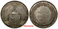 GERMANY SILVER MEDAL 1800 BAPTISM TOBIAS  CHRIST ON CROSS BY G. LOOS,39 MM  AUNC