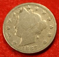 1887 LIBERTY V NICKEL G  DATE BEAUTIFUL COLLECTOR COIN GIFT LN420