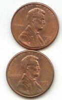 USA 1998D 1999D AMERICAN PENNIES ONE CENT COINS LINCOLN 1C EXACT PENNY SET