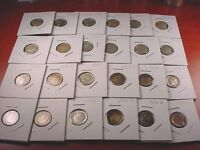 1953 TO 1964 ROOSEVELT DIME 24 COIN NICE STARTER SET 90 SILVER DIMES1052