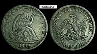 1844 SEATED LIBERTY HALF DOLLAR US SILVER COIN