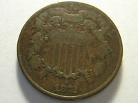 1872 TWO CENT PIECE VG  KEY DATE