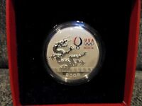 USA HOUSE SILVER PLATED 2008 BEIJING OLYMPICS DRAGON COIN