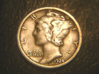 1924 MERCURY DIME IN/FINE CONDITION..ADD TO SET OR COLLECTION.