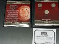 THE LAST 3 YEARS OF V NICKELS, 1 EACH 1910, 1911, 1912 FIRST COMMEMORATIVE MINT