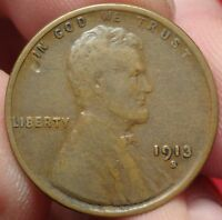 1913-S LINCOLN WHEAT CENT SAN FRANCISCO MINT 1C 2
