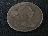 1801 DRAPED BUST LARGE CENT FULL DATE TOUGH EARLY CENT   P1061 TB2