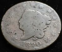 NICE CIRCULATED 1820 CORONET LARGE CENT EARLY COPPER.  GREAT GIFT IDEA
