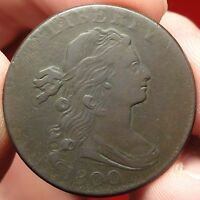 1800 DRAPED BUST LARGE CENT CHOICE FINE S 204 1C VARIETY RARITY 4