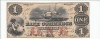 THE BANK OF COMMERCE GEORGIA GA $1 ONE DOLLAR 1800'S 1867 OBSOLETE BANKNOTE VF