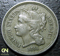 1868 3 CENT NICKEL PIECE      MAKE US AN OFFER  Y5212