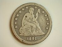 1891S  SEATED LIBERTY QUARTER  1891 S  1891 S