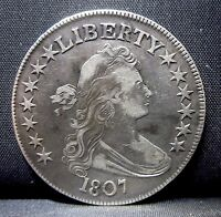 1807 DRAPED BUST HALF DOLLAR  CH-VF  FINE  50C SILVER  NOW EDELMANS