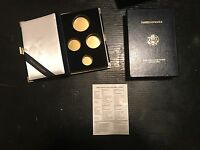 1992 GOLD AMERICAN EAGLE 4 PIECE SET BOX AND COA ONLY