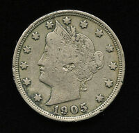 1905 US 5C LIBERTY HEAD NICKEL TYPE COIN FIVE CENTS VG  GOOD