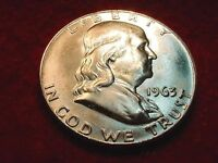 1963 D HALF DOLLAR GREAT GEM BU HALF DOLLAR   3
