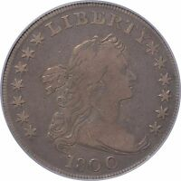 1800 EARLY DOLLAR  AMERICAI W/ WIDE DATE LOW 8   PCGS F15   B 11 BB 191 R5