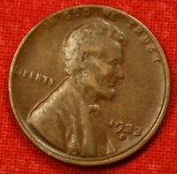 1933 D LINCOLN WHEAT CENT PENNY VF  QUALITY COLLECTOR COIN GIFT LW1181