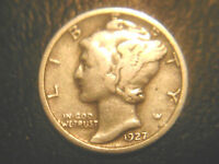 1927 MERCURY DIME IN/FINE CONDITION..ADD TO SET OR COLLECTION.