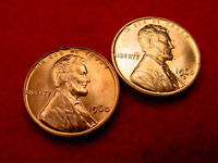 1960 P & D SMALL DATE LINCOLN CENTS 2 GREAT BU COINS   72