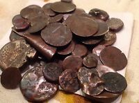 ROUGH LOT OF ROMAN TO 1800'S COINS READ DESCRIPTION FND W METAL DETECTOR S20