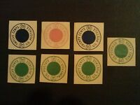 U.S. STAMP ESSAYS 1954 THORP METER STAMPS SET OF 7 INCLUDES ONE 40 CENT STAMP