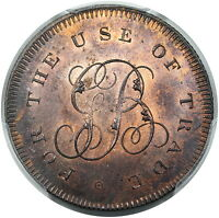 C. 1790'S GREAT BRITAIN: MIDDLESEX HALFPENNY TOKEN DH 312B PCGS MS65RB