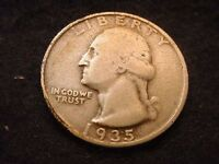 1935 S WASHINGTON QUARTER NICE KEY DATE COIN    150