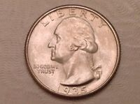 1935 WASHINGTON QUARTER   UNCIRCULATED UNC