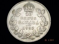 1932   TEN CENT   CANADIAN   SILVER   COIN PICTURED YOU WILL RECEIVE