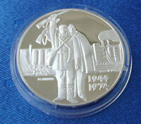 BULGARIA 5 LEVS 1974 30TH ANNIVERSARY   LIBERATION FROM FASCISM MINT SILVER AG
