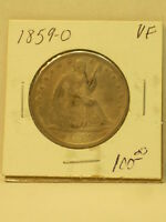 1859 0  SEATED LIBERTY SILVER HALF
