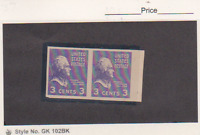 US SCOTT  807, FORGERY, 3 CENT IMPEFORATED PAIR MNH