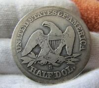 1858 S 50C SEATED LIBERTY HALF     SAN FRANCISCO    ONLY 476,000 MINTED
