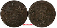 SWEDEN KARL XI 1660 1697 COPPER 1676 S.M.1 ORE KM 254 10329