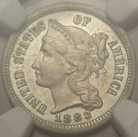 NGC PF64 1883 THREE CENT NICKEL GREAT 3CN PROOF TYPE COIN