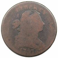 1797 DRAPED BUST LARGE CENT, REVERSE OF '97, STEMS, S-136, R.3, FAIR
